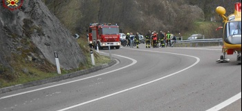 incidente santa croce moto nel lago