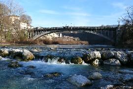 Il fiume Piave e il Ponte della Vittoria