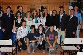 I primi dieci studenti classificati con i relatori