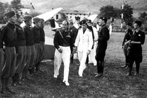 Starace visita la Scuola di volo di Campo S Pietro