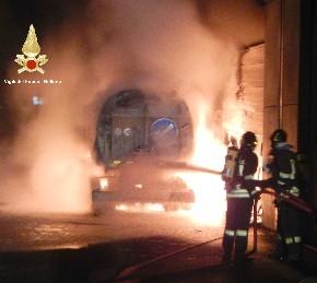 incendio magazzini comunali feltre 2