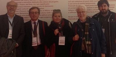 Giovanni Campeol, il presidente di Urbit (organizzatore di Urbanpromo) Stefano Stanghellini, Simonetta Buttignon, Piero Balzan e Gianni Pastella