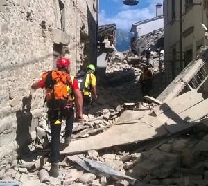 soccorso alpino ad Amatrice